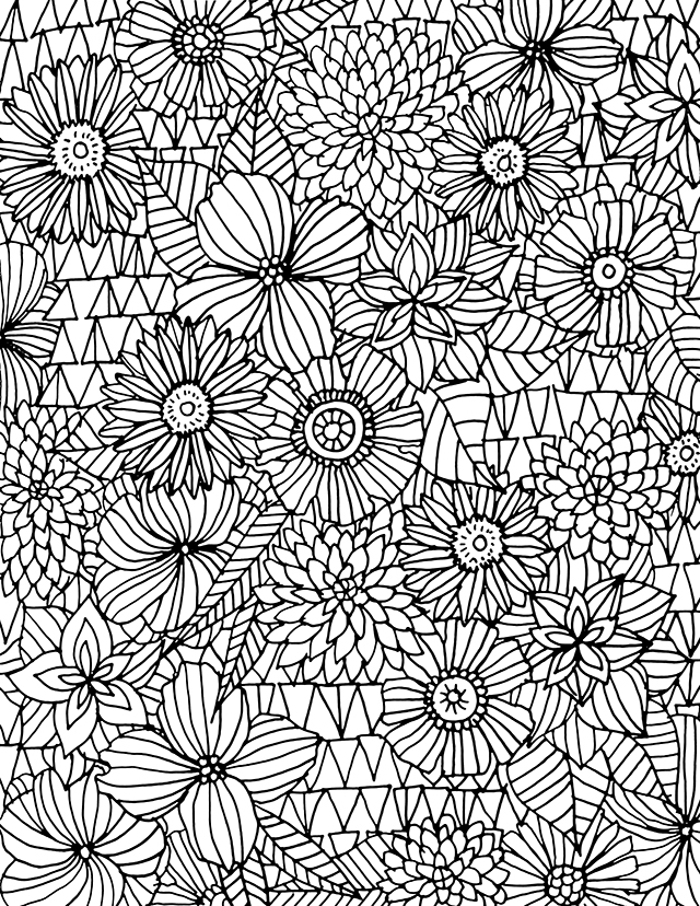 Lines coloring #7, Download drawings