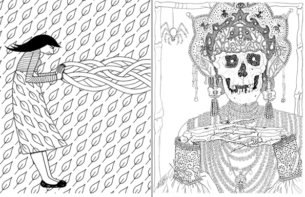 Lines coloring #19, Download drawings