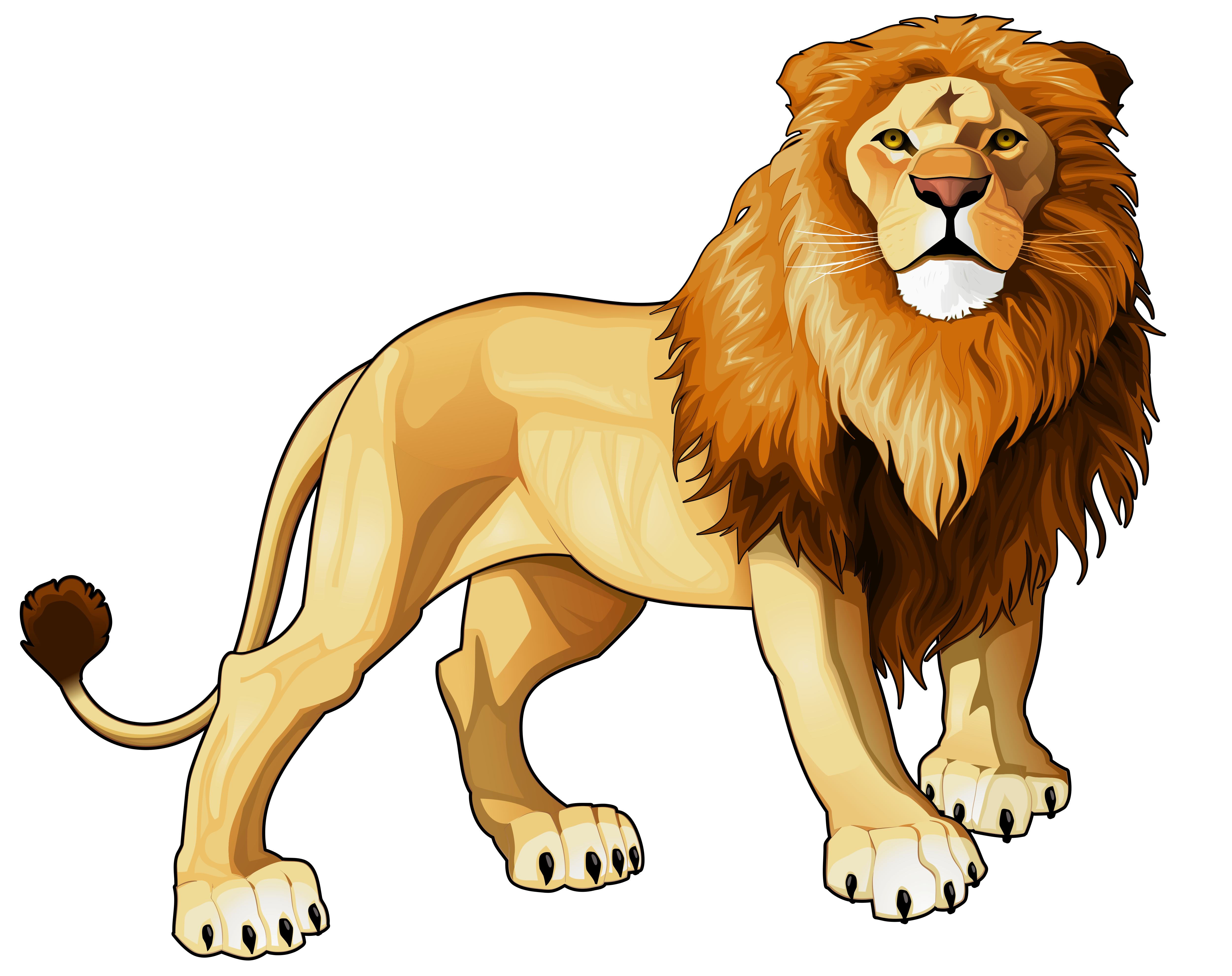 Lion clipart #2, Download drawings