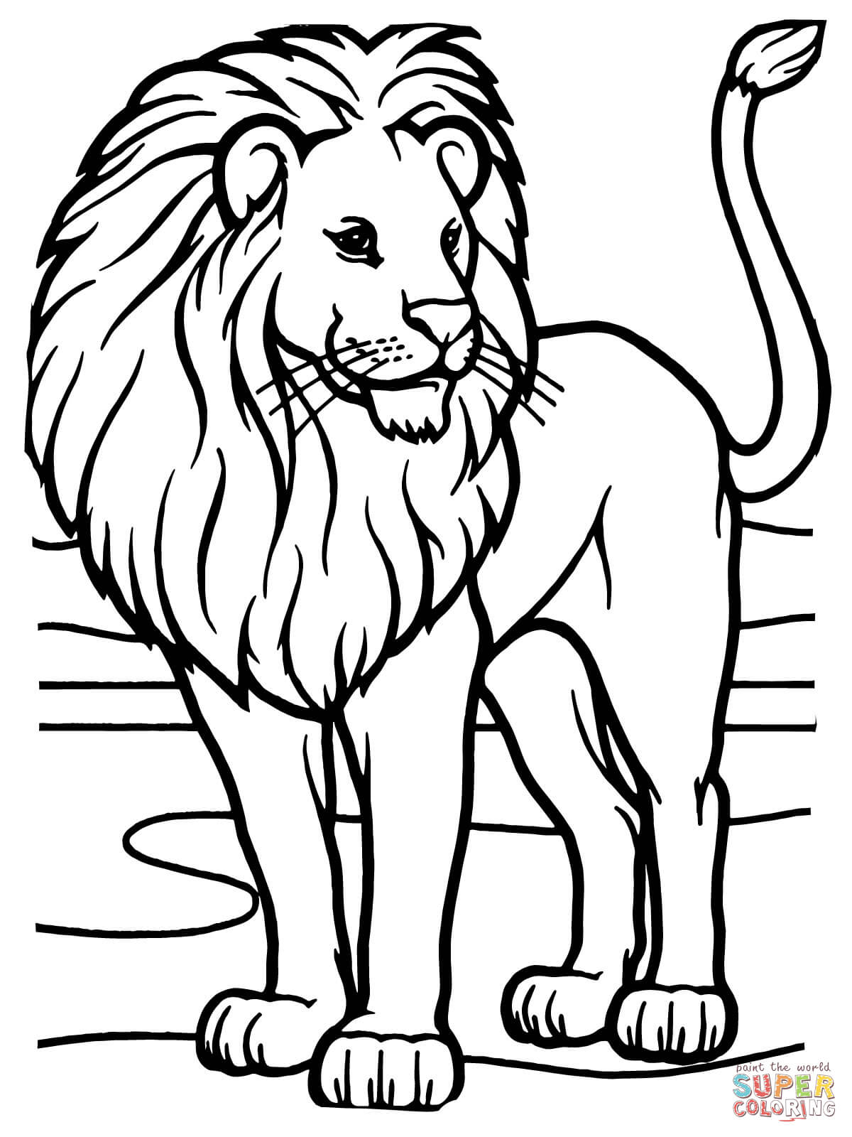 Lion coloring #8, Download drawings