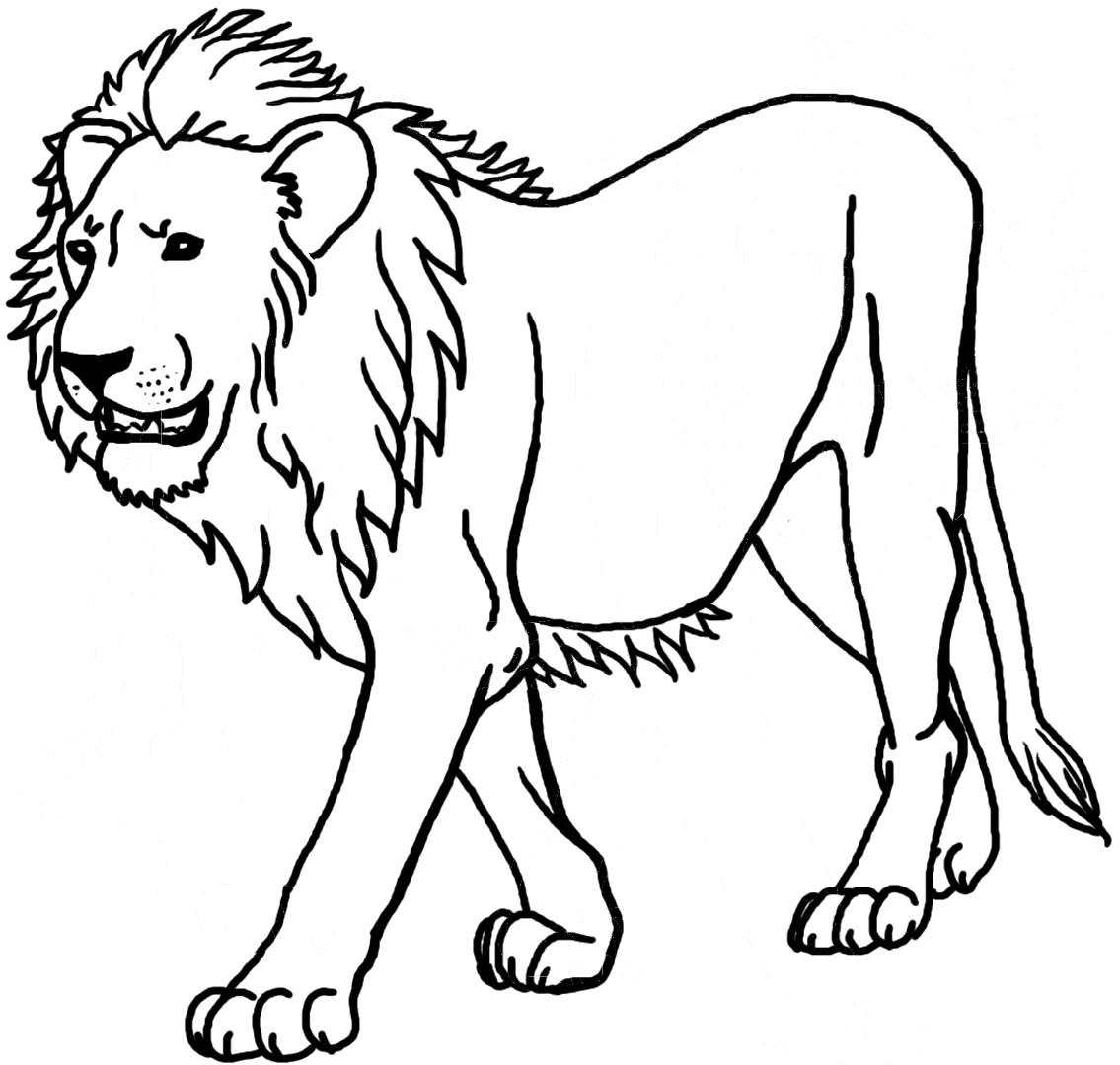 Lion coloring #3, Download drawings