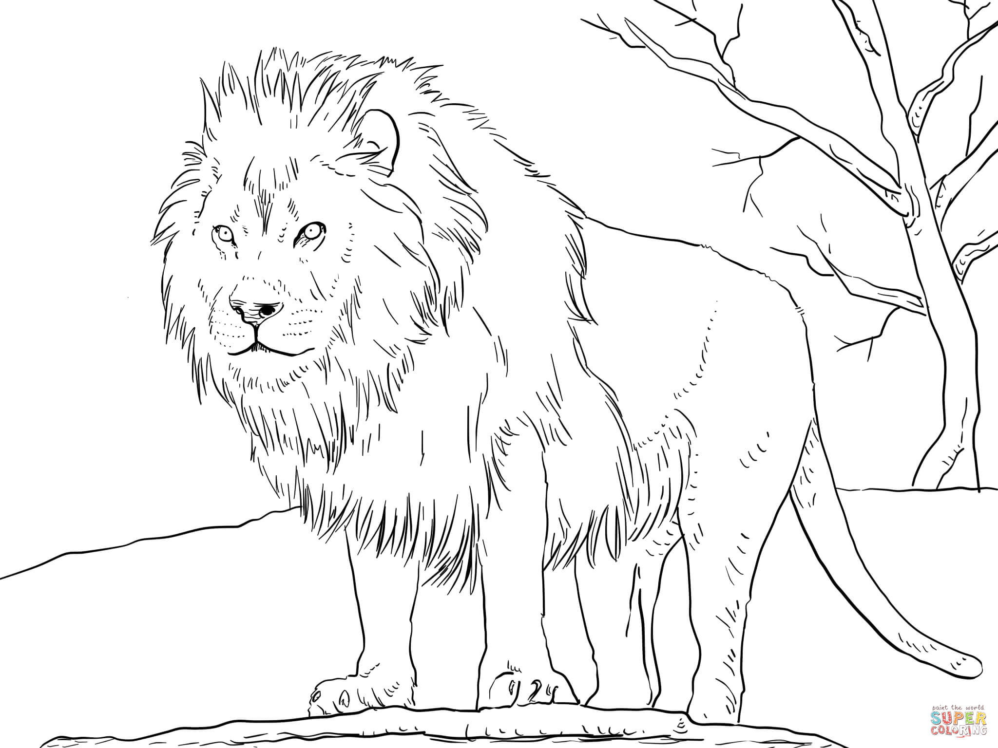Lion coloring #19, Download drawings