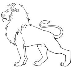 Lion coloring #2, Download drawings