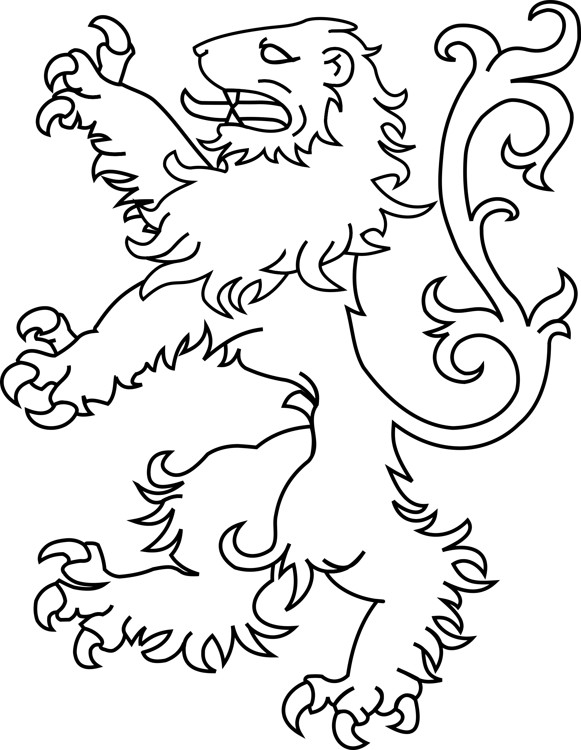 White Lion svg #4, Download drawings