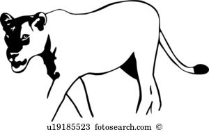 Lioness clipart #13, Download drawings