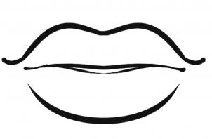 Lips coloring #14, Download drawings