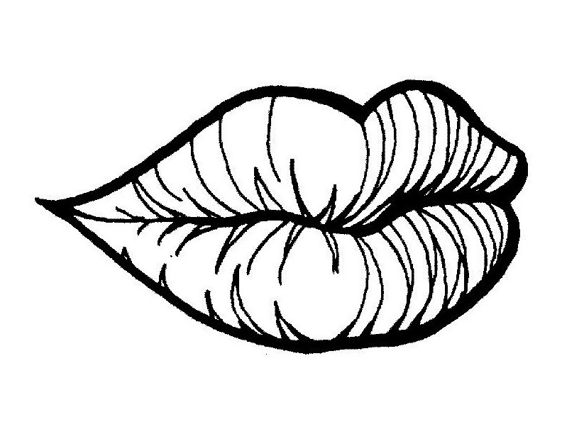 Lips coloring #5, Download drawings