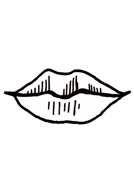 Lips coloring #9, Download drawings