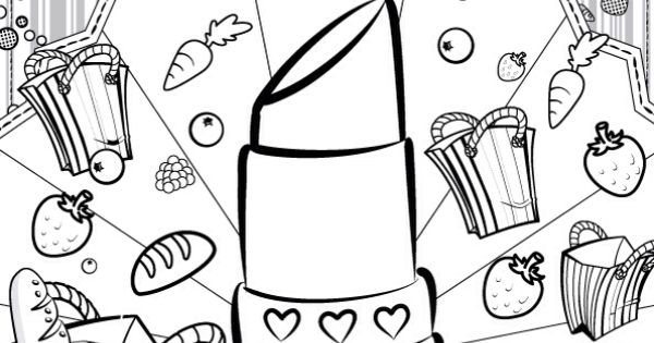 Lipstick coloring #6, Download drawings