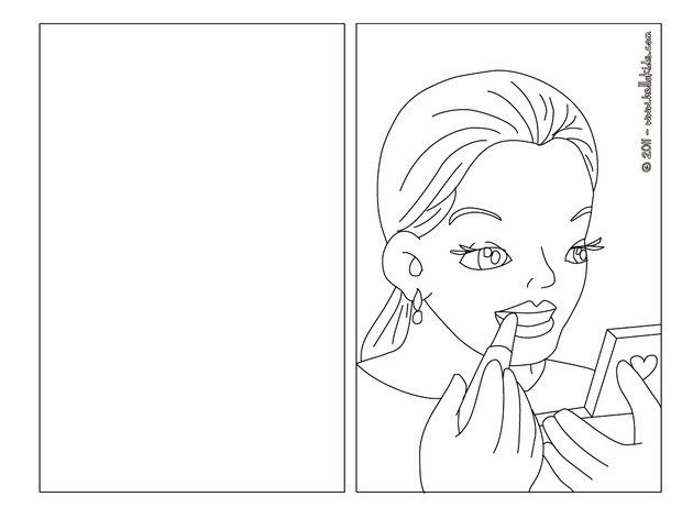 Lipstick coloring #8, Download drawings