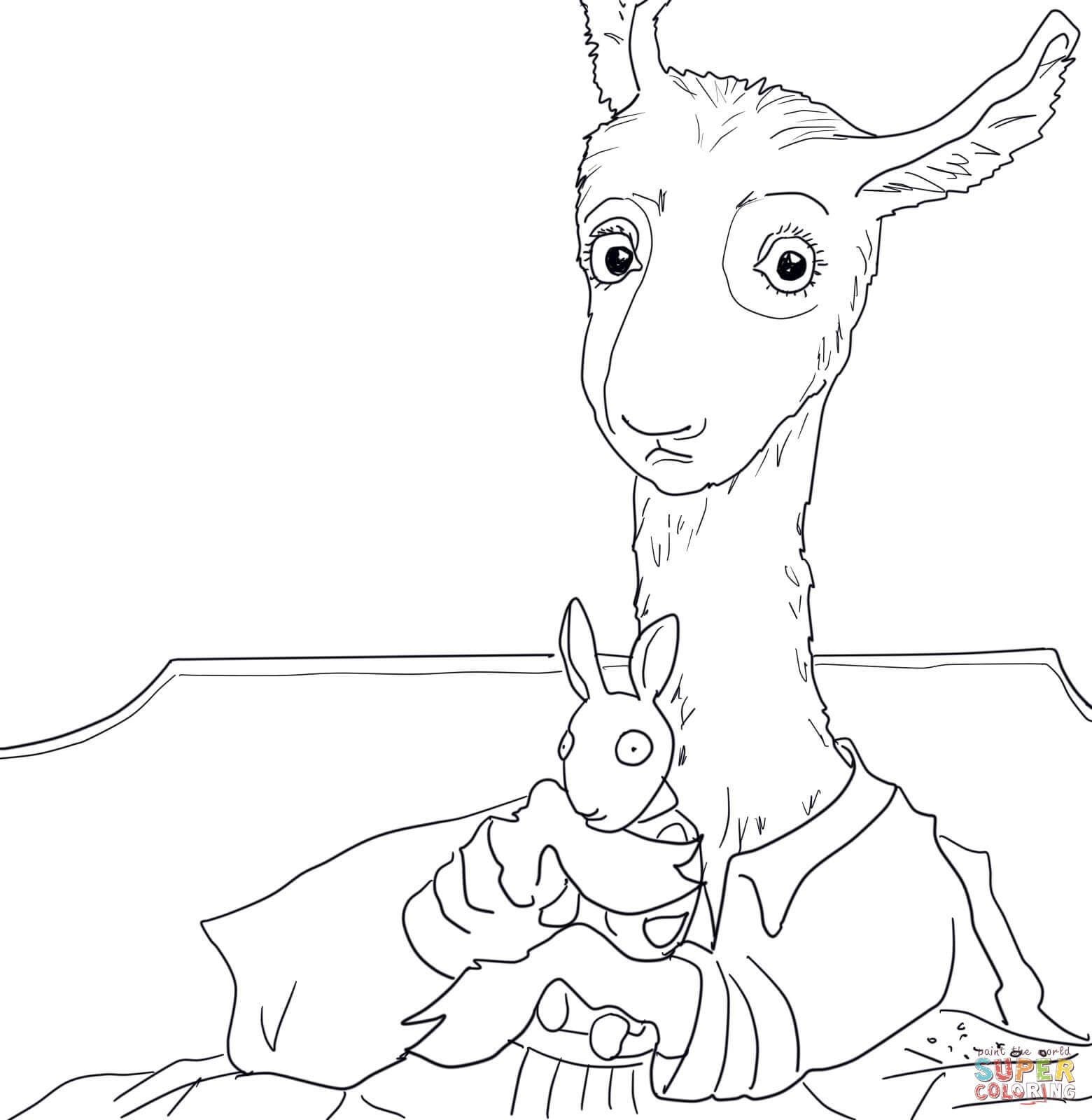 Llama coloring #8, Download drawings