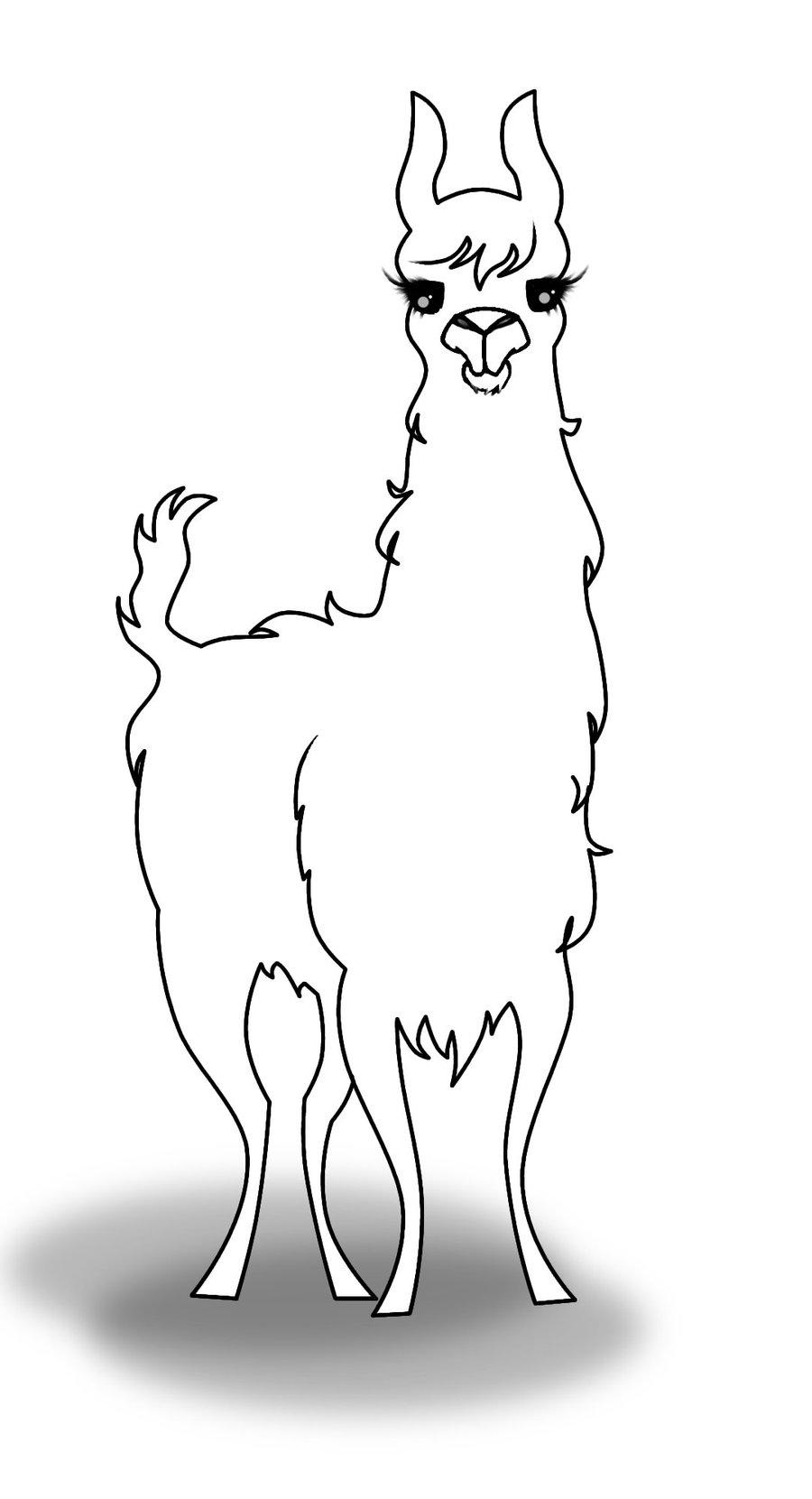 Llama coloring #17, Download drawings