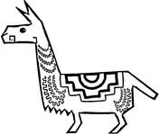 Llama coloring #11, Download drawings
