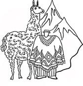 Llama coloring #18, Download drawings