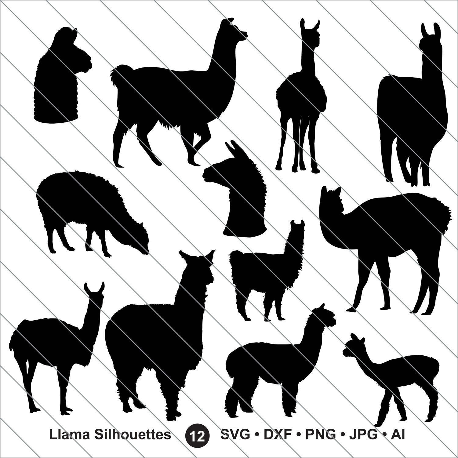 Llama svg #7, Download drawings