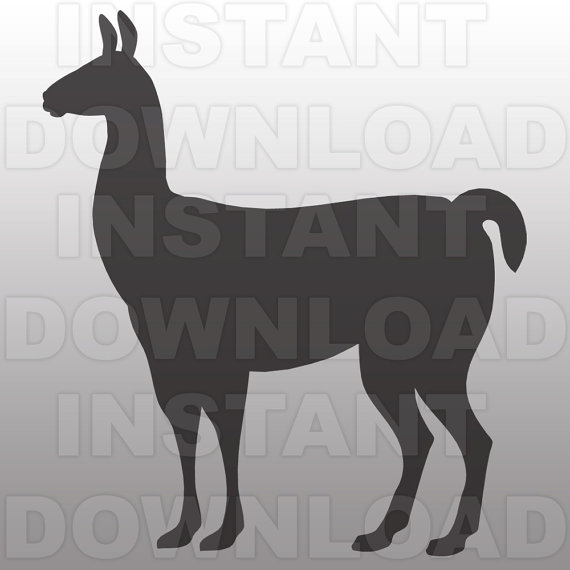 Llama svg #4, Download drawings