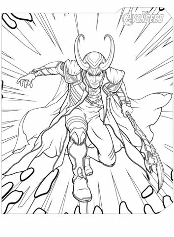 Loki coloring #16, Download drawings