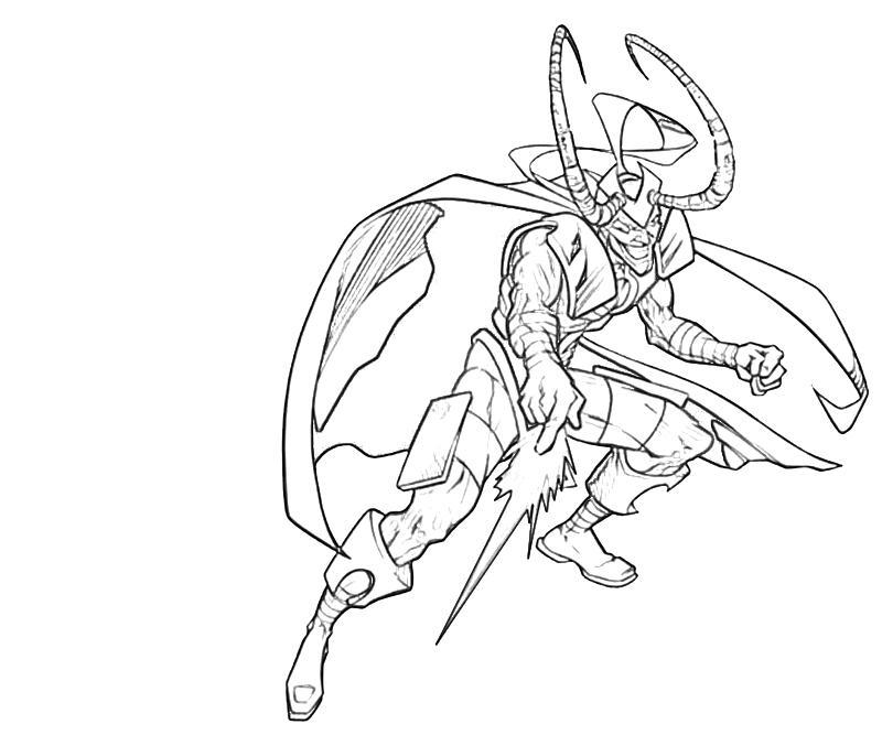 Loki coloring #20, Download drawings