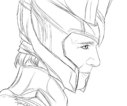 Loki coloring #15, Download drawings