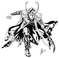 Loki coloring #12, Download drawings
