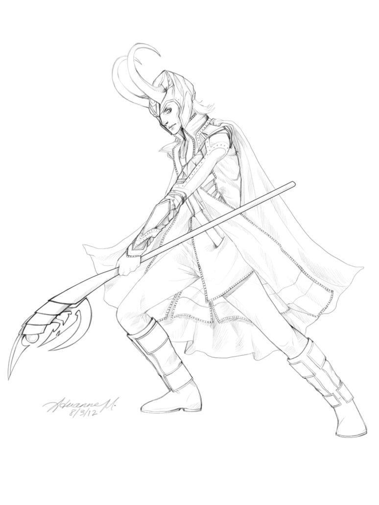 Loki coloring #3, Download drawings