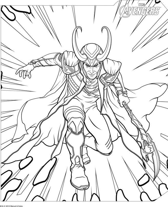Loki coloring #14, Download drawings