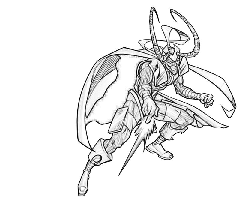 Loki coloring #4, Download drawings