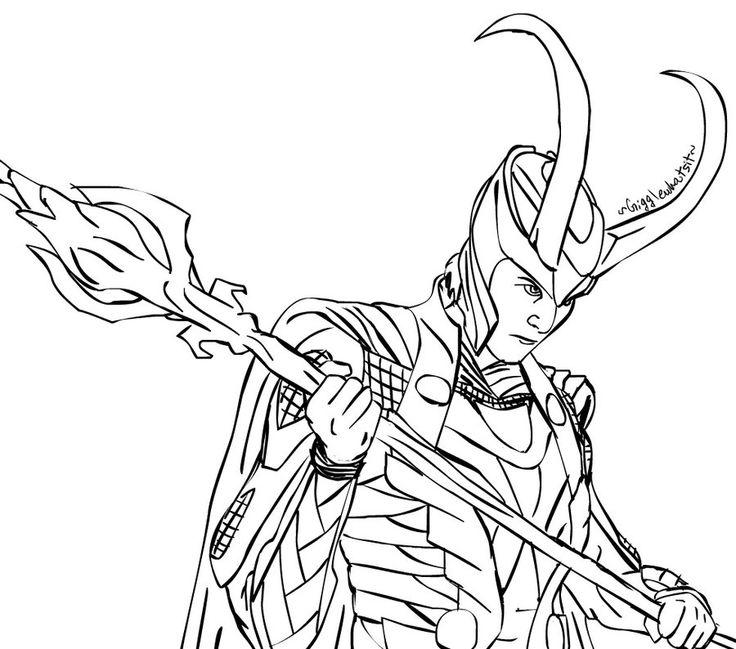 Loki coloring #11, Download drawings