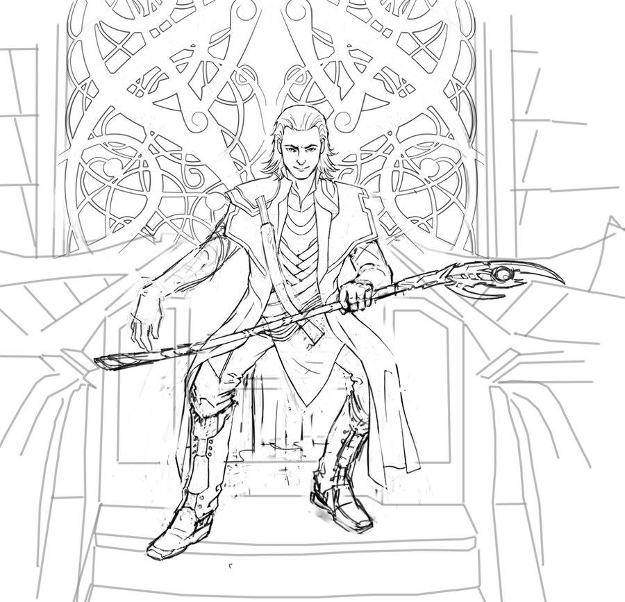 Loki coloring #9, Download drawings