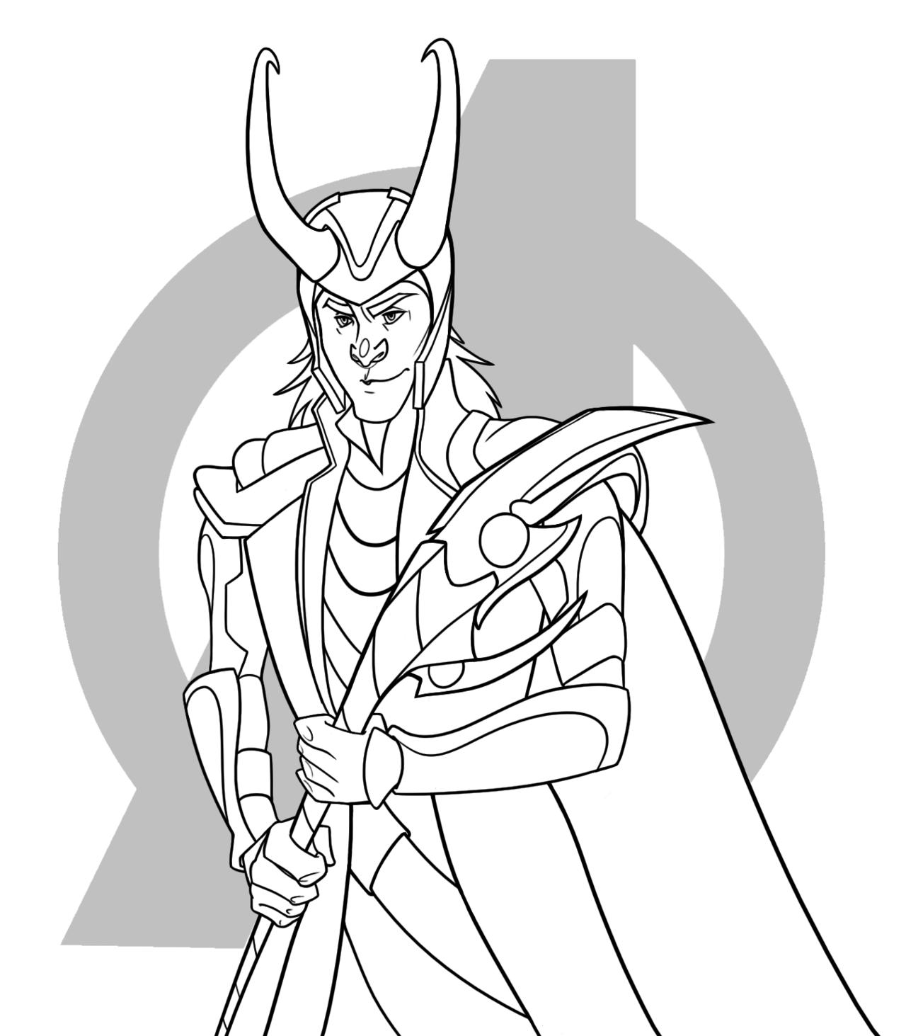 Loki coloring #13, Download drawings