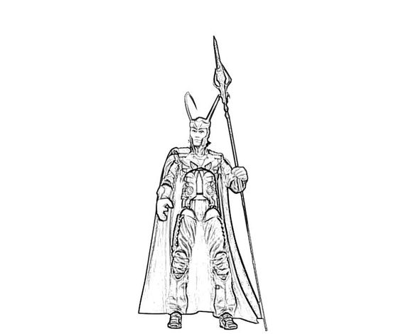 Loki coloring #8, Download drawings