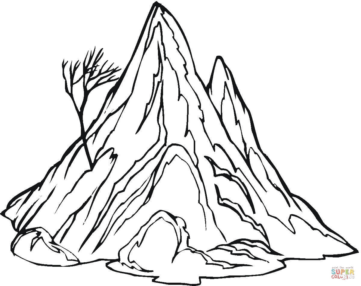 Mountain coloring #9, Download drawings