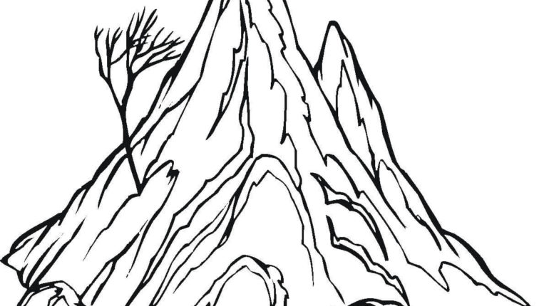 Lonely Tree coloring #5, Download drawings