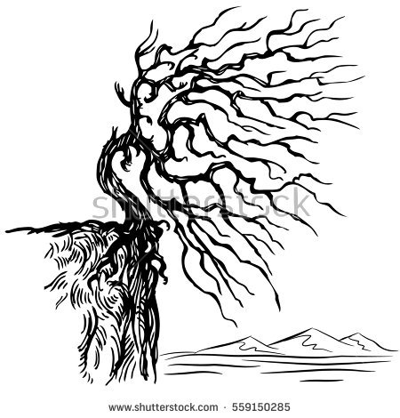 Lonely Tree coloring #16, Download drawings