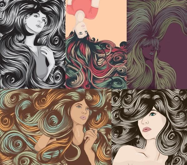 Long Hair svg #9, Download drawings