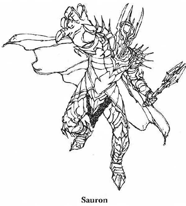 Sauron coloring #20, Download drawings