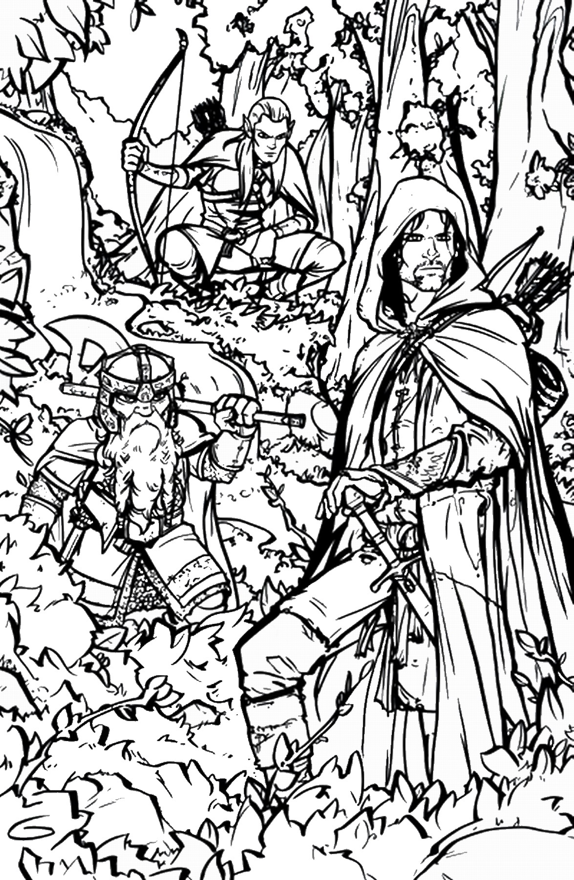 The Lord Of The Rings coloring #4, Download drawings