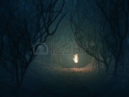 Lost Girl In Dark Forest clipart #14, Download drawings