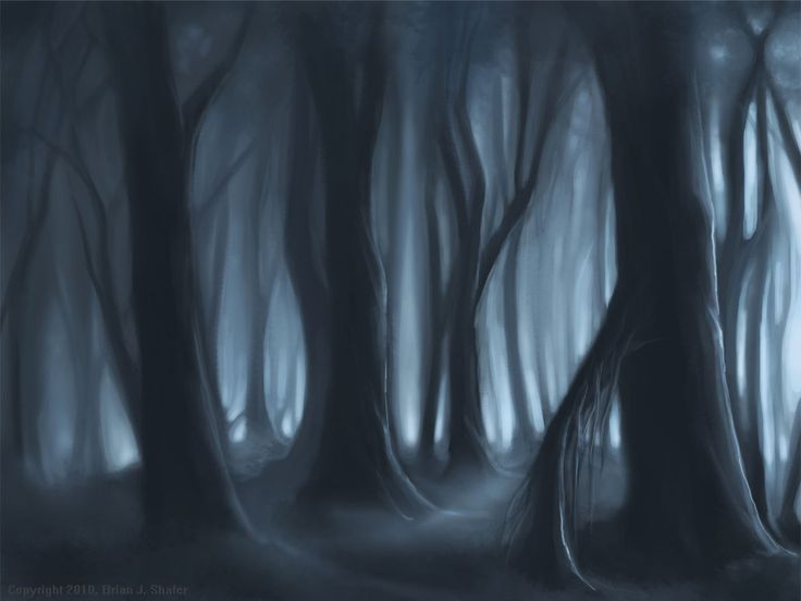 Lost Girl In Dark Forest clipart #3, Download drawings