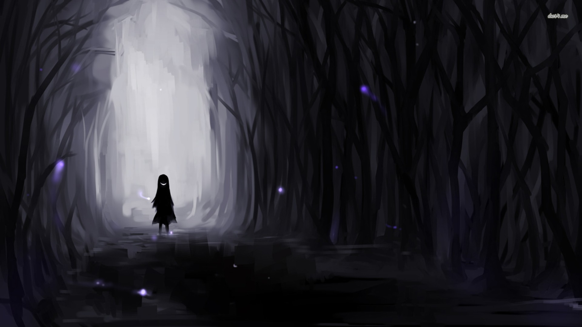 Lost Girl In Dark Forest clipart #9, Download drawings