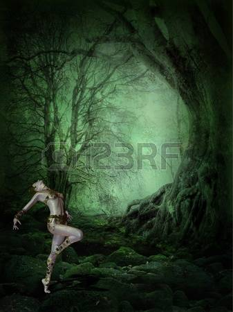 Lost Girl In Dark Forest clipart #12, Download drawings