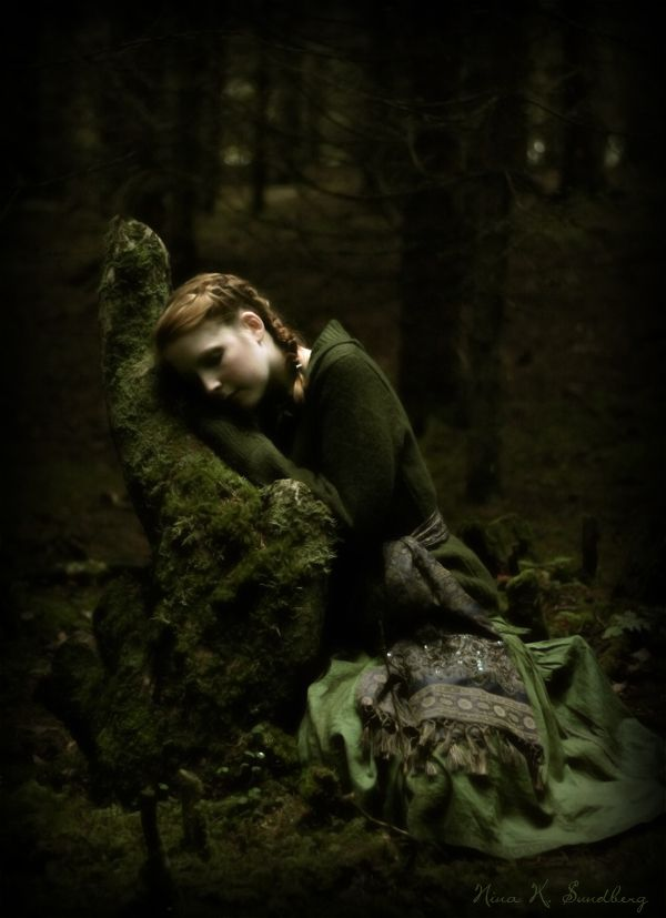 Lost Girl In Dark Forest clipart #1, Download drawings