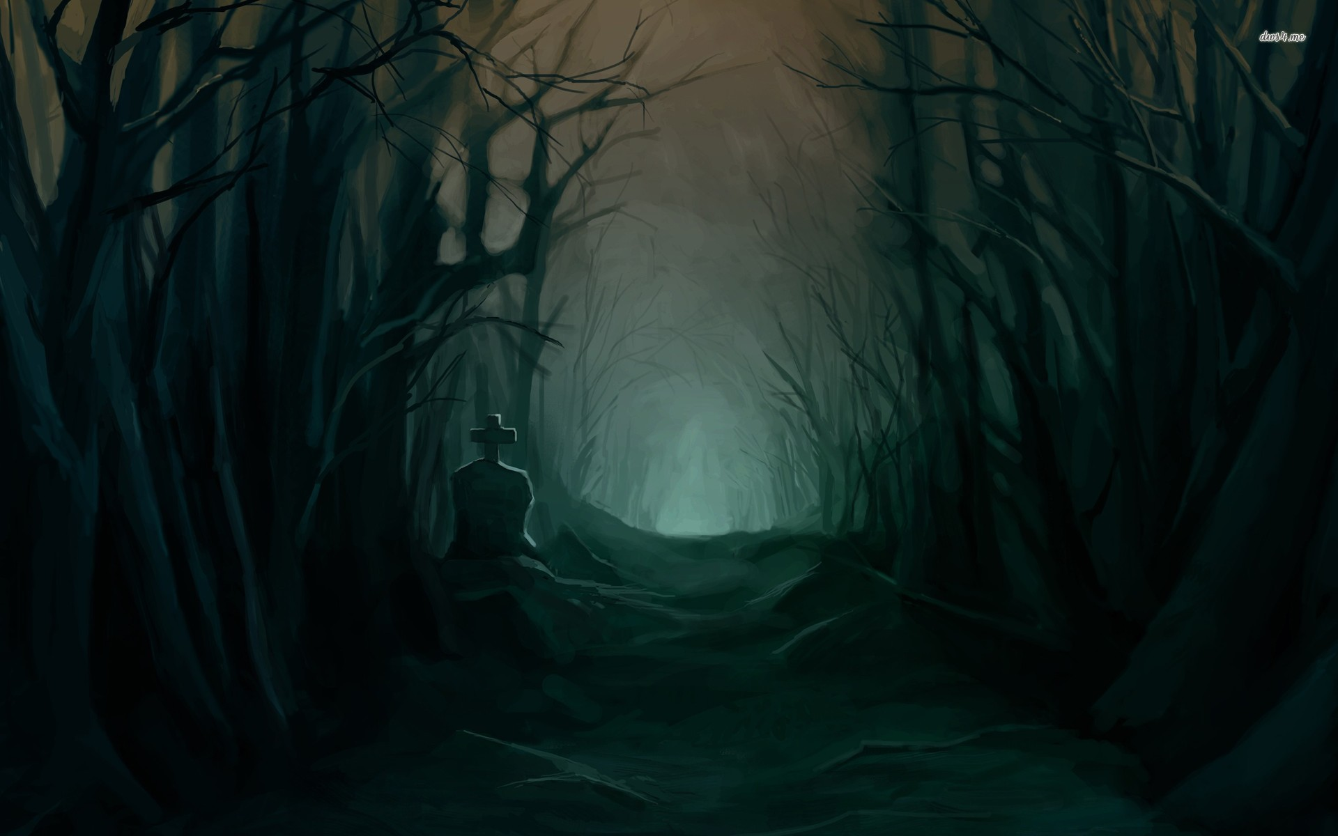 Lost Girl In Dark Forest clipart #10, Download drawings