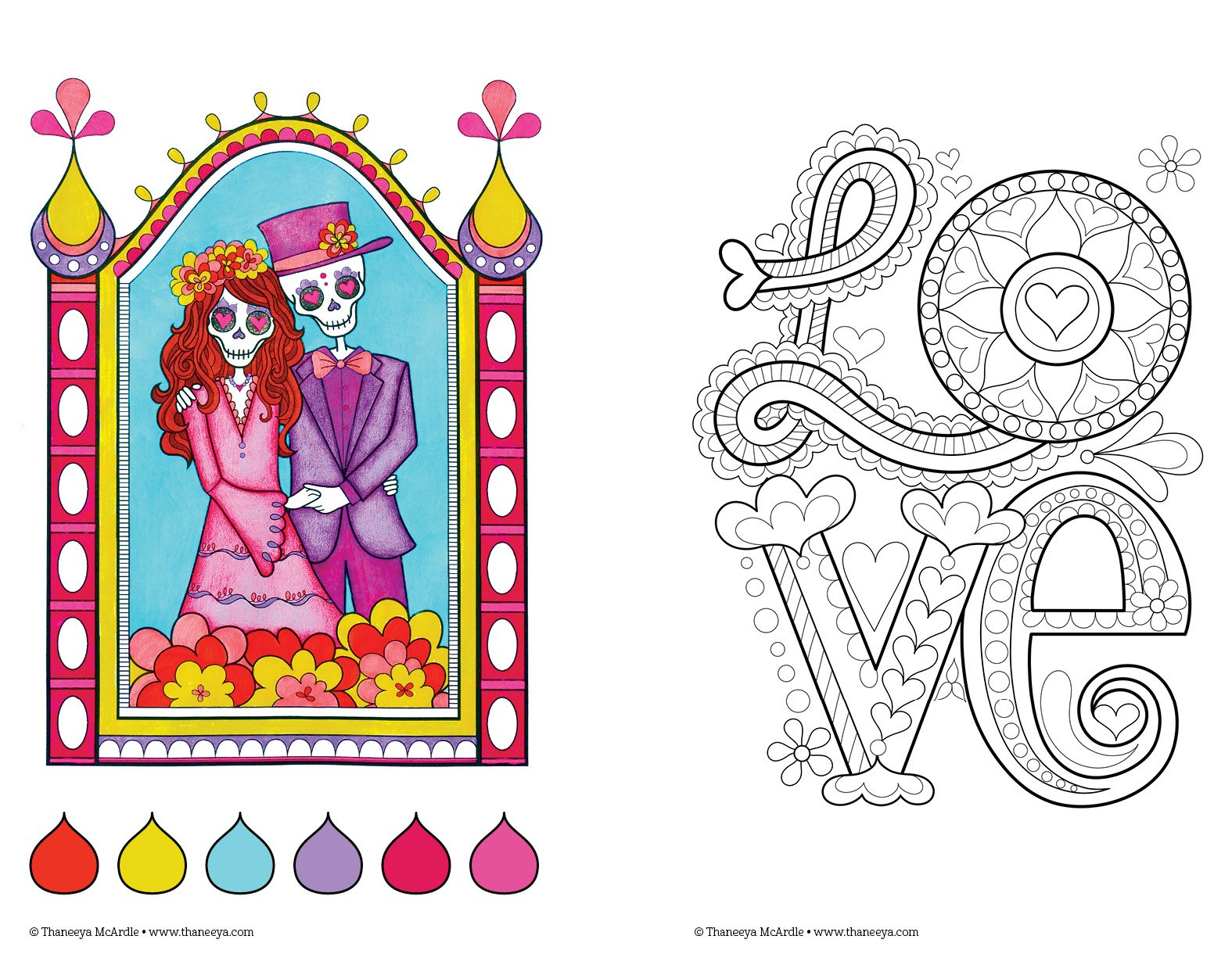 Love coloring #1, Download drawings