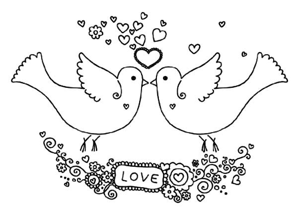 Lovebird coloring #10, Download drawings