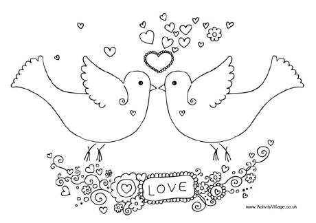 Lovebird coloring #13, Download drawings