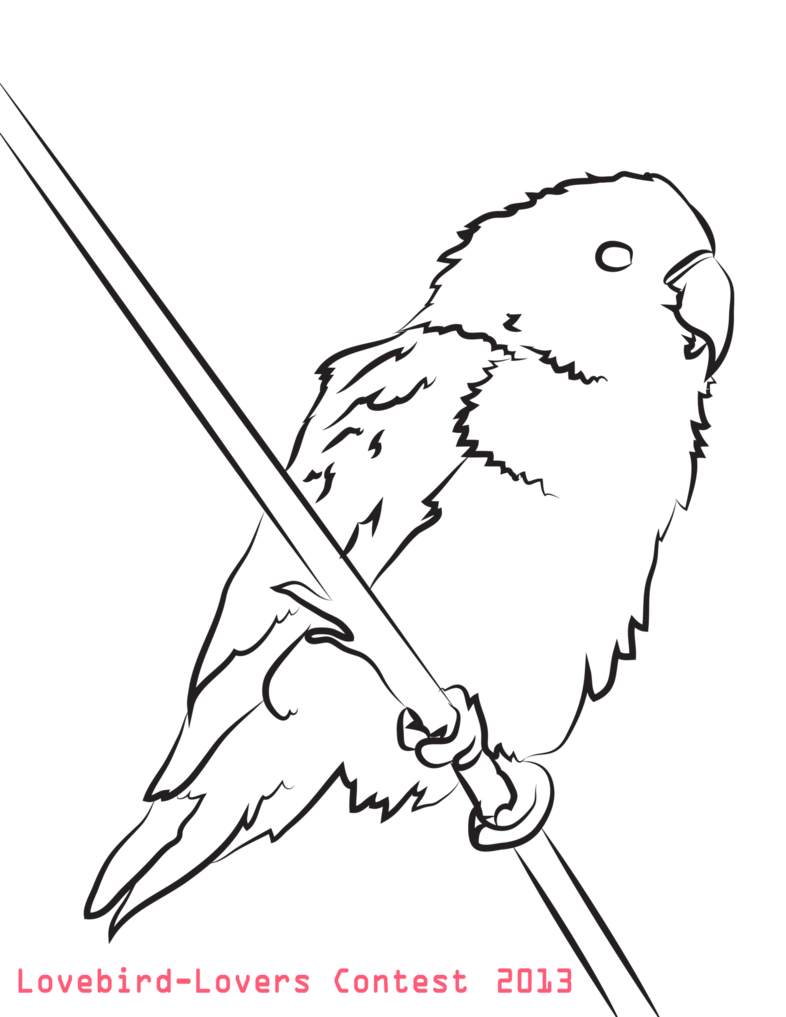 Lovebird coloring #4, Download drawings