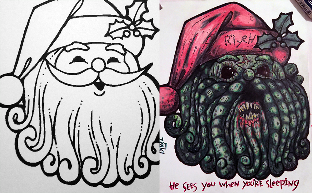 Lovecraft coloring #7, Download drawings