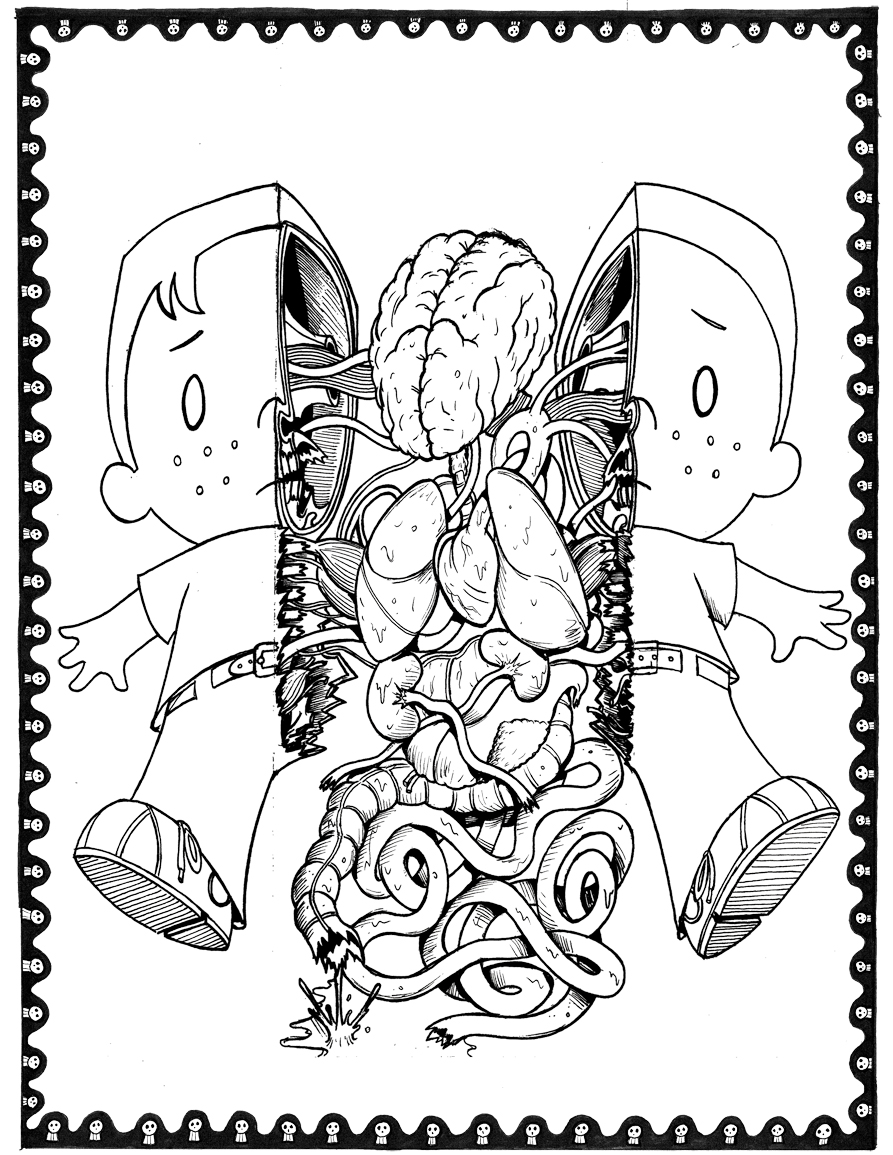 Lovecraft coloring #11, Download drawings