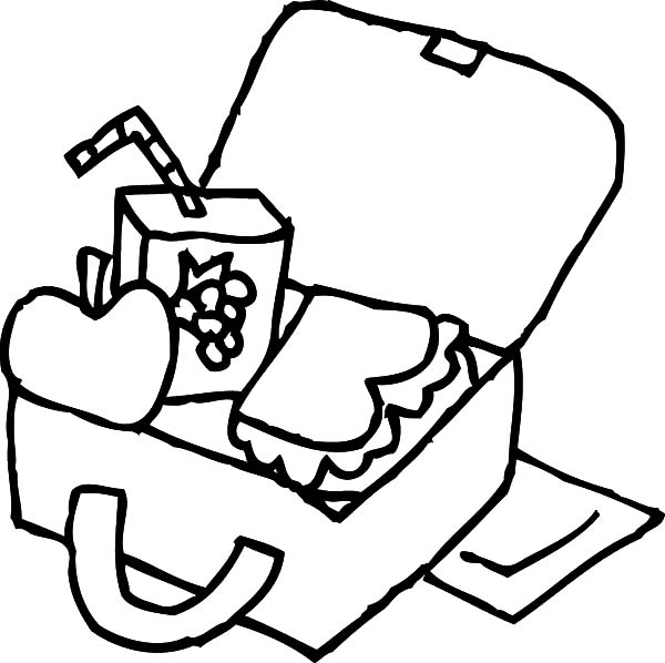 school lunch bag coloring pages - photo#3